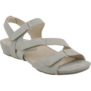 Earthies NIB Gray Printed Suede NOVA Sandals